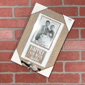NWT Happily Ever After wedding rustic boho frame